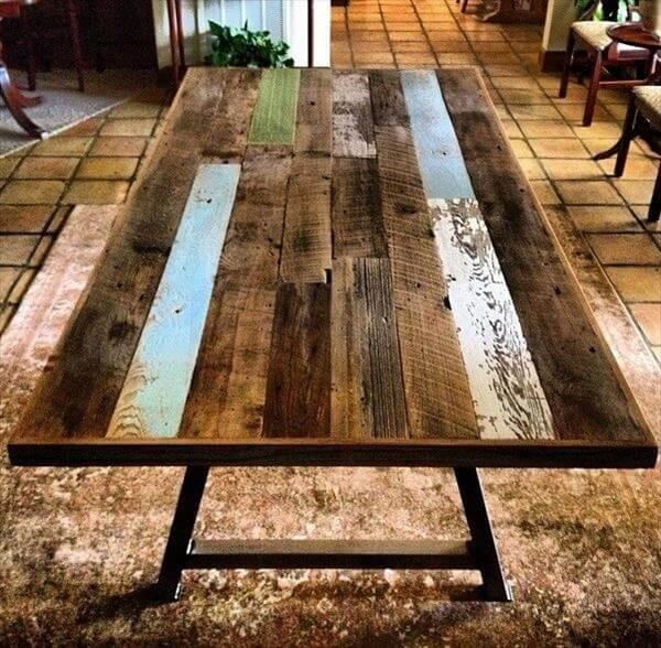 industrial pallet dining table