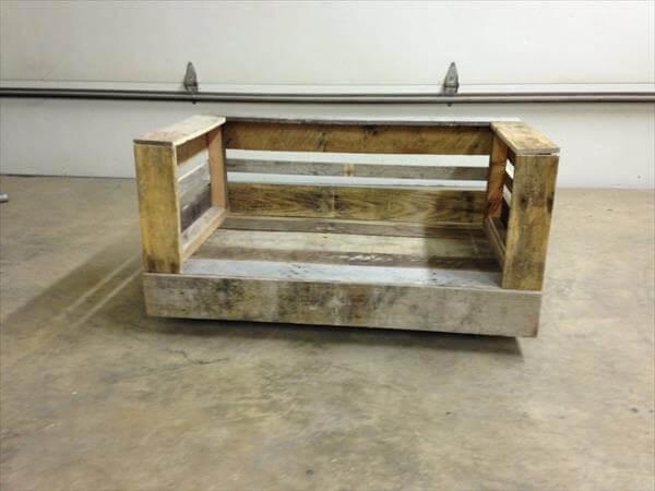 rustic pallet dog bed