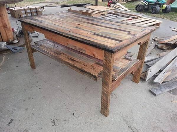 upcycled handcrafted pallet coffee table