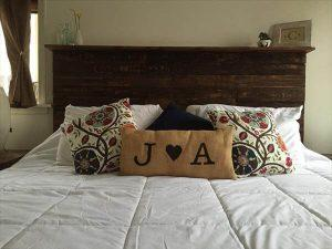 diy pallet queen sized headboard