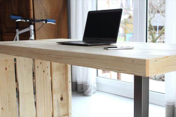 diy modern chic pallet desk