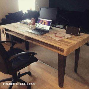 Wood Pallet Computer Desk / Dining Table