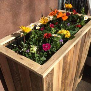 diy pallet wooden planter box