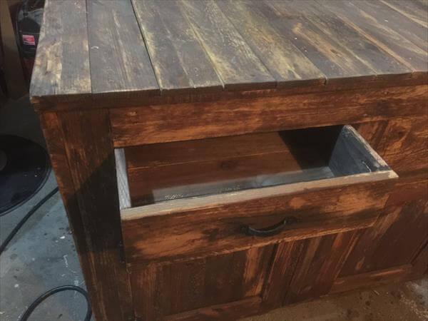 storage friendly pallet buffet