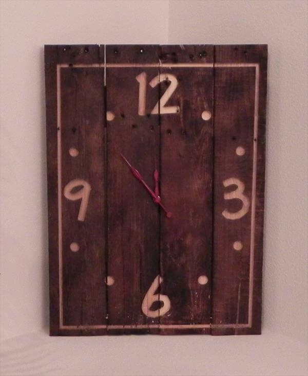 handcrafted pallet wall clock