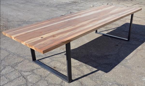 reclaimed pallet and steel office desk