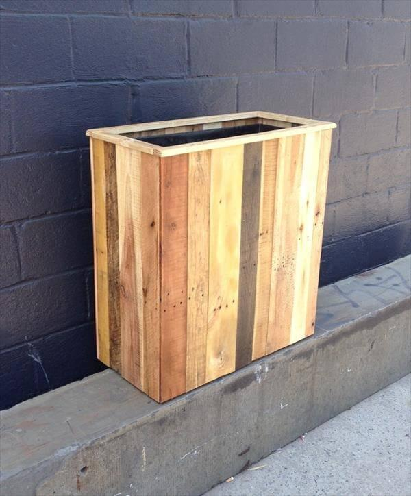 easy-to-build pallet planter box