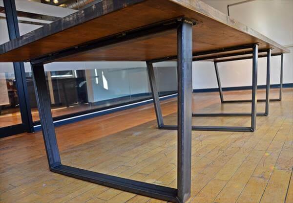 handcrafted pallet office desk