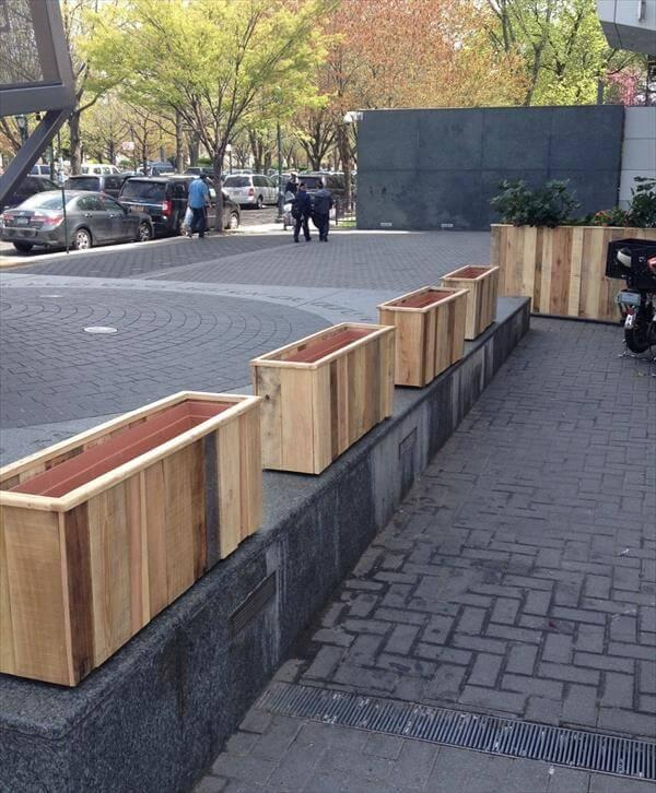 wooden pallet planter boxes