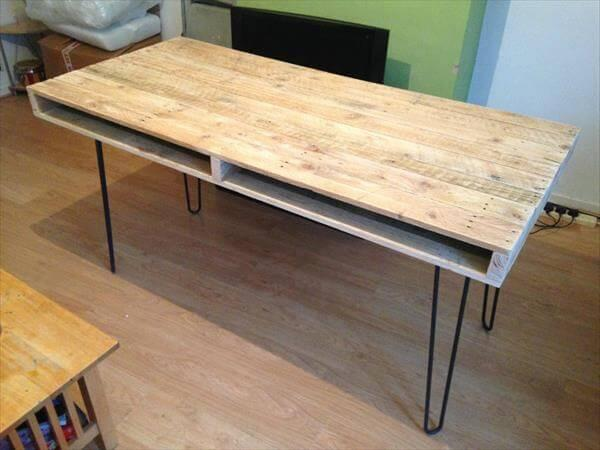 diy pallet slim pallet dining table and computer desk