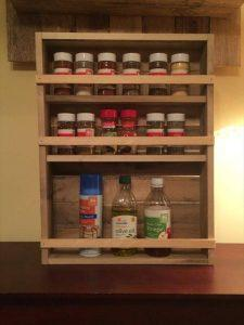 wooden pallet 3 tray spice rack