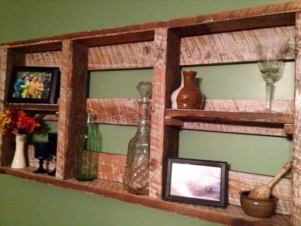 Painted Pallet Decorative Wall Shelf – 101 Pallets