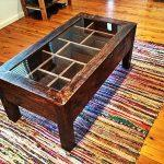 recycled pallet sleek coffee table with glass top