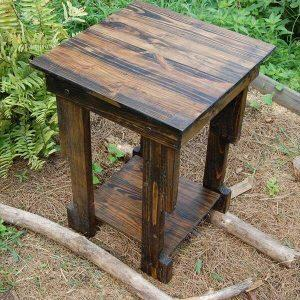 reclaimed pallet side table and nightstand