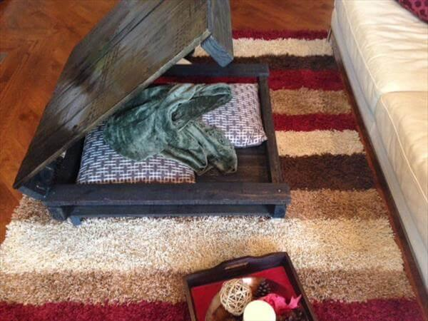 upcycled pallet black stained coffee table
