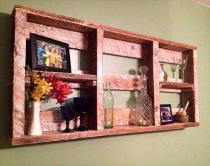 Painted Pallet Decorative Wall Shelf