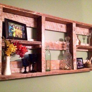 wooden pallet wall hanging shelf