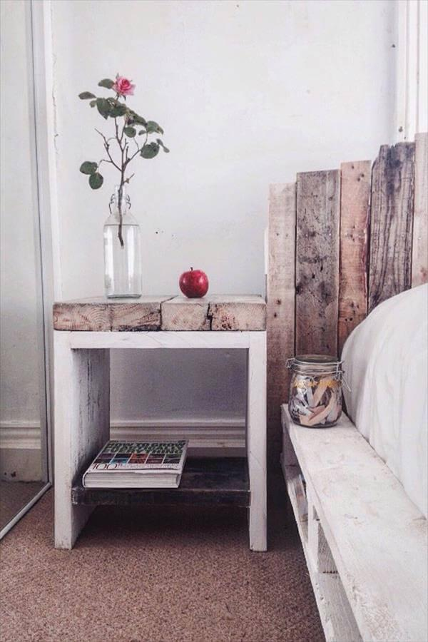 handcrafted pallet rustic coffee table with headboard and nightstand