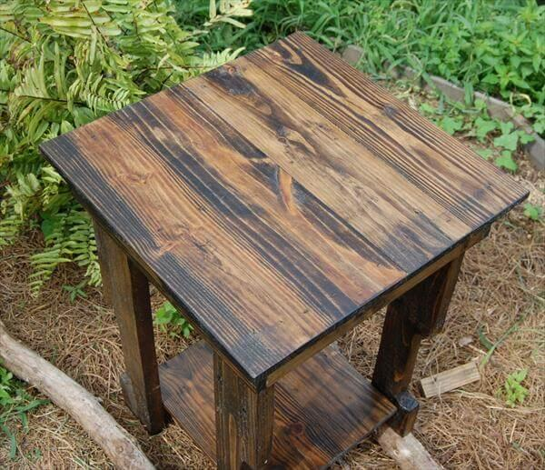 reclaimed rustic pallet sofa table and nightstand
