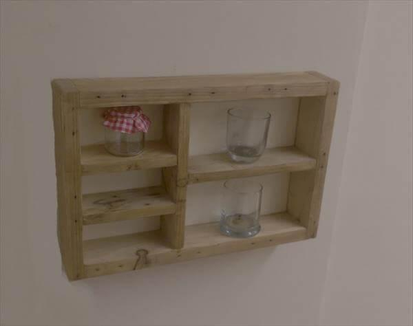 wooden pallet wall shelf unit