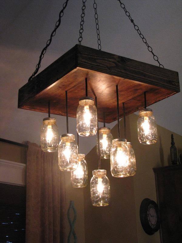 wooden pallet antique light ideas