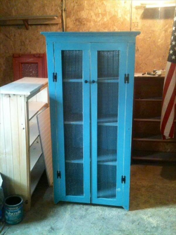 recycled pallet wardrobe armoire