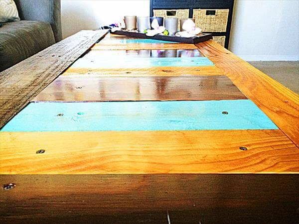 upcycled pallet and fence wood coffee table