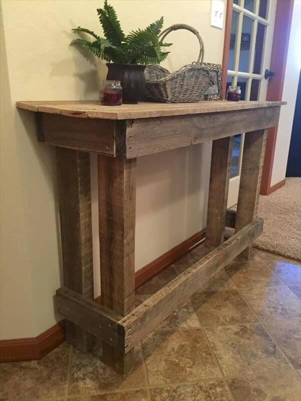 Wooden Pallet Sofa Side Table