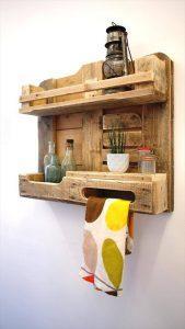 DIY Pallet Wood Kitchen Shelf- Wall Unit