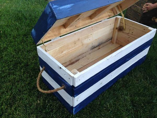 diy pallet nautical toy chest