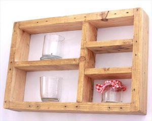 Decorative and Storage-Friendly Pallet Shelf Unit