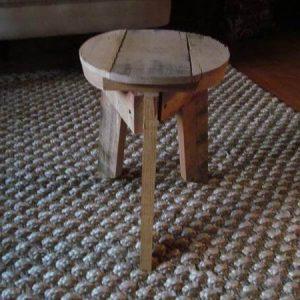 wooden pallet round top stool