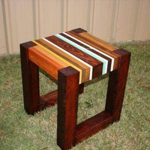 diy unique pallet lumber end table