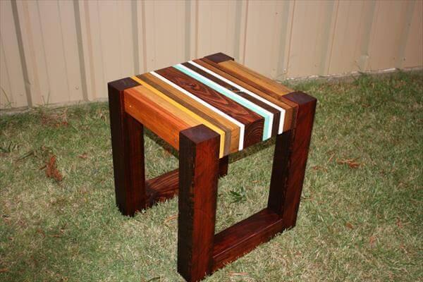 diy unique pallet lumber end table