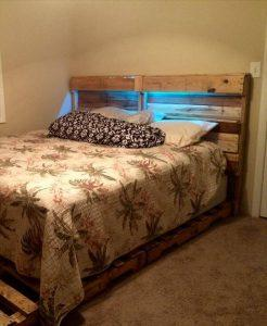 DIY Pallet Bed Frame and Headboard