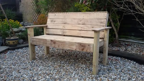 Fine Reclaimed Pallet Garden Bench 101 Pallets Pdpeps Interior Chair Design Pdpepsorg