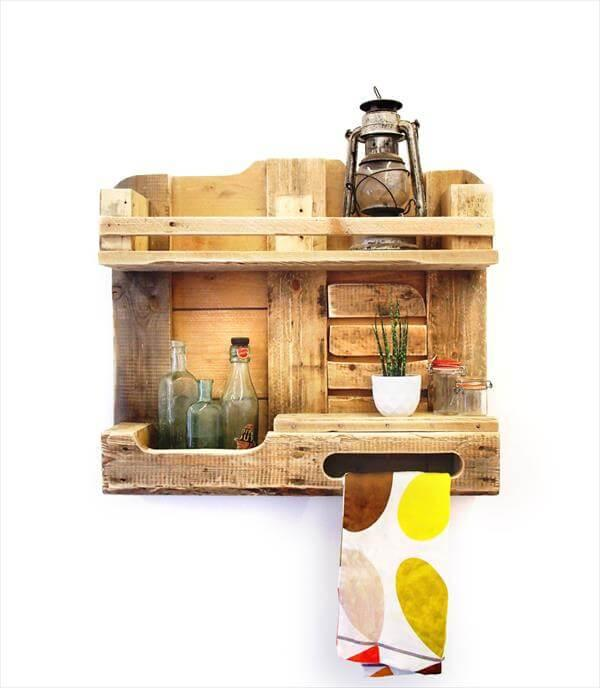Handcrafted Pallet Kitchen Shelf
