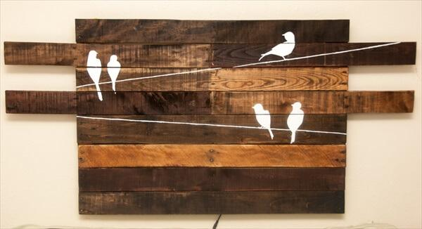 diy pallet vintage inspired headboard