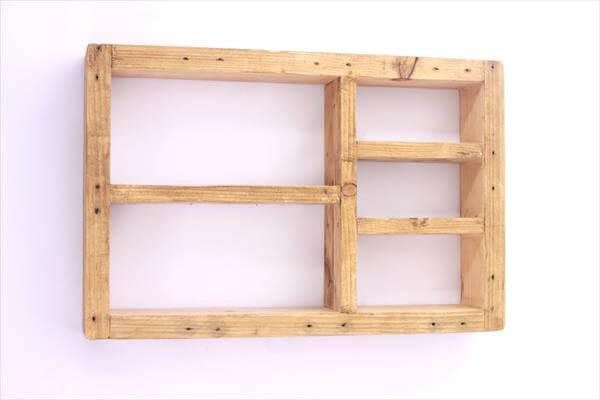 diy wooden pallet wall shelf unit
