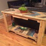 Recycled pallet sofa table