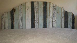 wooden pallet distressed artistic headboard