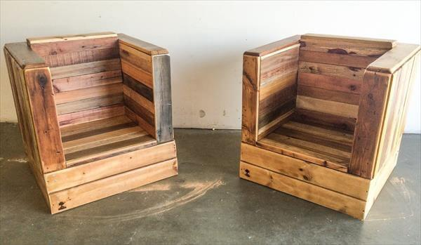 Diy Pallet Bistro Styled Arm Chair 101 Pallets