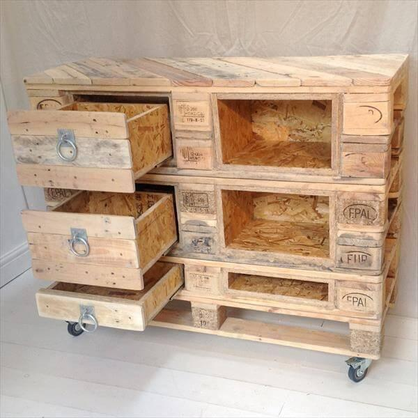 Diy Pallet Chest With Drawers 101 Pallets