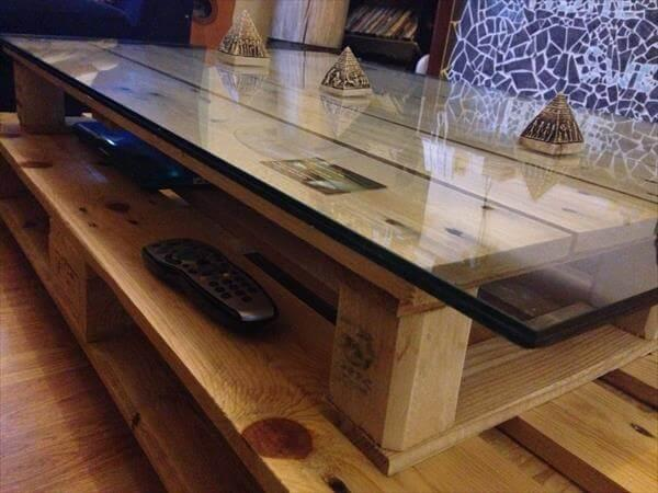 Diy Pallet Double Decker Coffee Table 101 Pallets