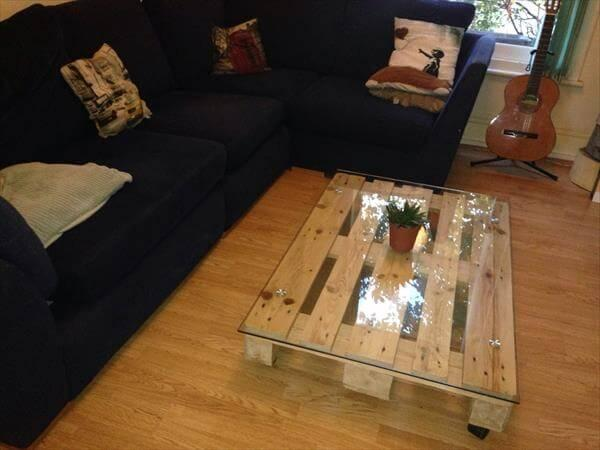 coffee table made of pallets