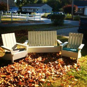Handmade pallet Adirondack chair set
