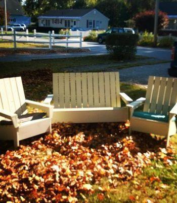 Handmade pallet Adirondack chair set