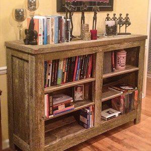 wooden pallet rustic bookshelf