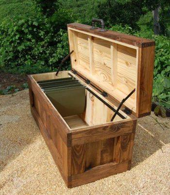 wooden pallet file cabinet chest