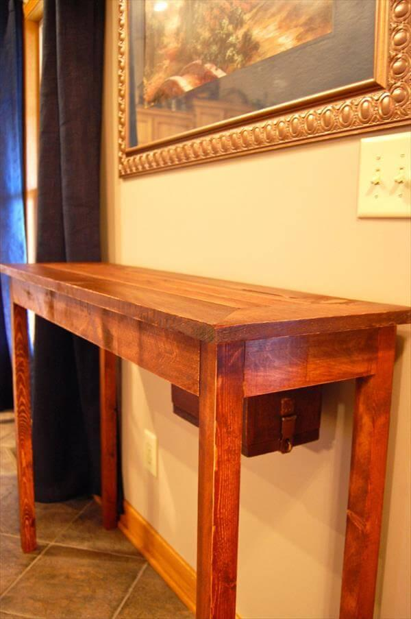 Reclaimed Pallet Console Table 101 Pallets